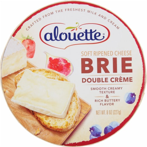 Alouette Double Creme Brie Cheese Perspective: front