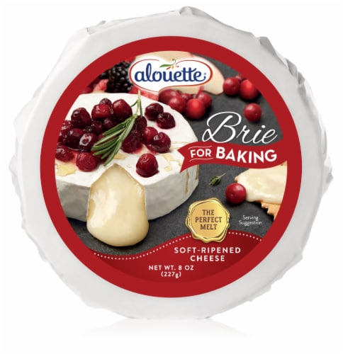 Alouette Brie for Baking Soft-Ripened Cheese Perspective: front