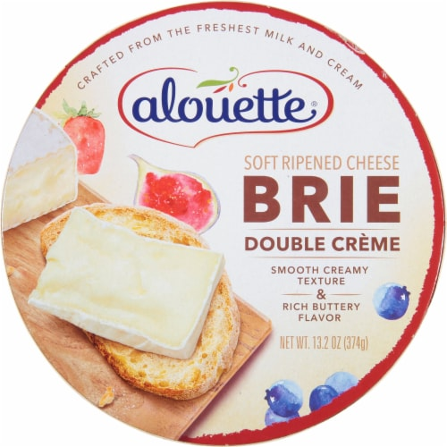 Alouette Double Creme Baby Brie Cheese Perspective: front