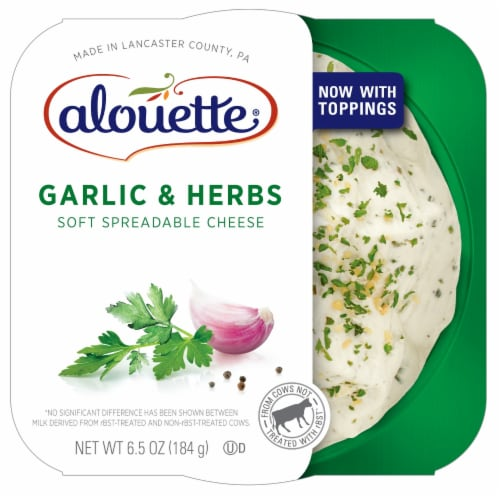 Alouette Garlic & Herb Soft Spreadable Cheese Perspective: front
