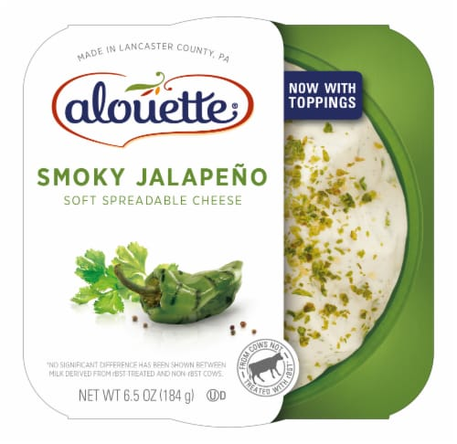 Alouette Smokey Jalapeno Soft Spreadable Cheese Perspective: front