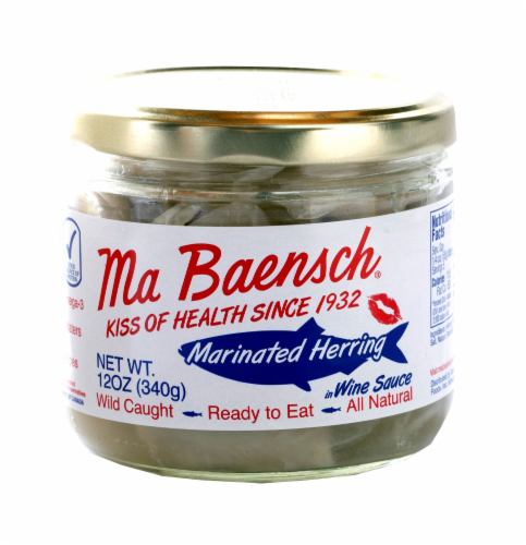 Ma Baensch Marinated Herring in Wine Sauce Perspective: front