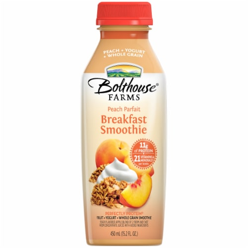 Bolthouse® Farms Peach Parfait Breakfast Smoothie Perspective: front