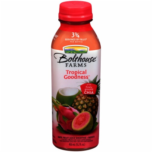 Bolthouse Farms Tropical Goodness with Chia Fruit Juice Smoothie Perspective: front