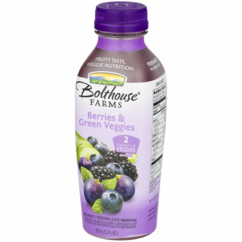 Bolthouse Farms Berries & Green Veggies Juice Smoothe Perspective: front