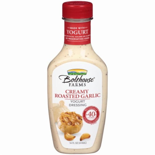 Bolthouse Farms Creamy Roasted Garlic Yogurt Dressing Perspective: front