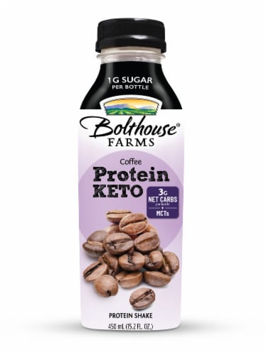 Bolthouse Farms Keto Coffee Protein Shake Perspective: front