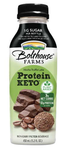 Bolthouse Farms Mocha Truffle Latte Plant-Based Keto Protein Shake Perspective: front