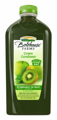 Bolthouse Farms Green Goodness Fruit Juice Smoothie Perspective: front