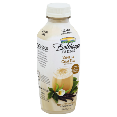 Bolthouse Farms Vanilla Chai Tea Protein Tea & Soy Beverage Perspective: front
