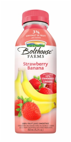 Bolthouse Farms Strawberry Banana Fruit Smoothie Perspective: front