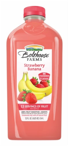 Bolthouse Farms Strawberry Banana Fruit Juice Smoothie Perspective: front