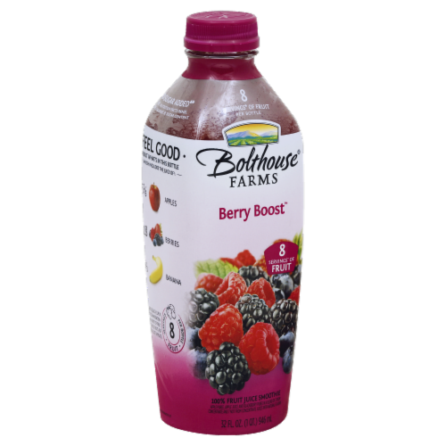 Bolthouse Farms Berry Boost Fruit Juice Smoothie Perspective: front