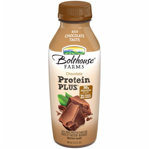 Bolthouse Farms Protein Plus Chocolate Shake Perspective: front