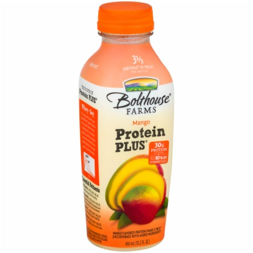Bolthouse Farms Mango Protein Plus Shake Perspective: front