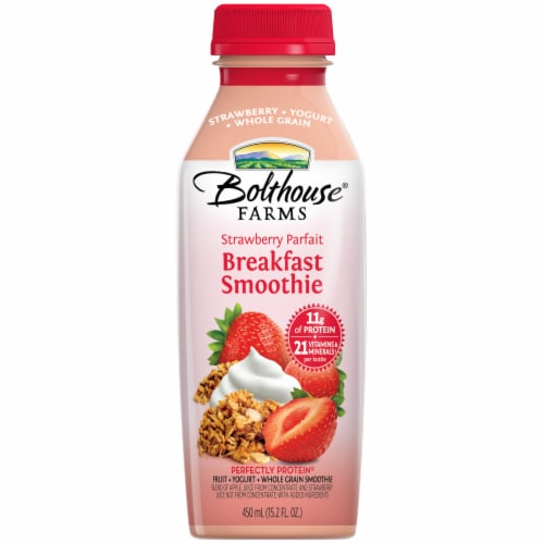 Bolthouse Farms Strawberry Parfait Breakfast Protein Smoothie Perspective: front