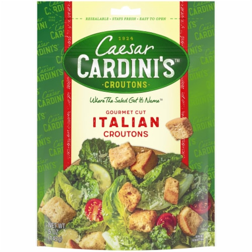 Cardini's Gourmet Cut Italian Croutons Perspective: front