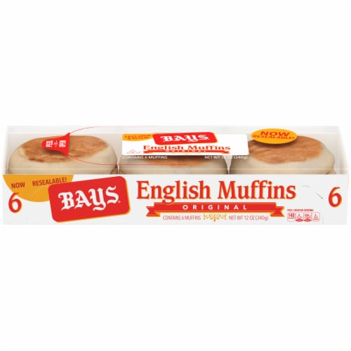 Bays Original English Muffins Perspective: front