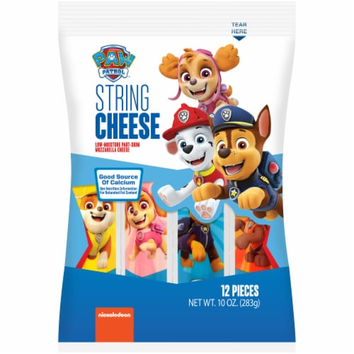 Nickelodeon Paw Patrol Mozzarella String Cheese 12 Count Perspective: front