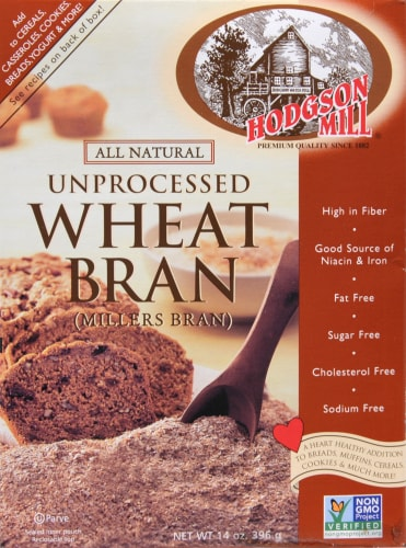 Hodgson Mill Unprocessed Wheat Bran Perspective: front