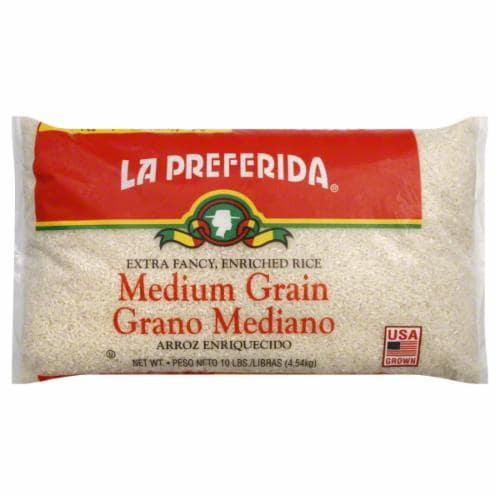 La Preferida Medium Grain Rice Perspective: front