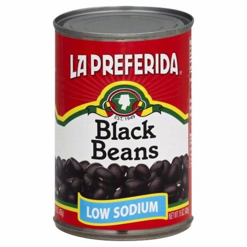 La Preferida Low Sodium Black Beans Perspective: front