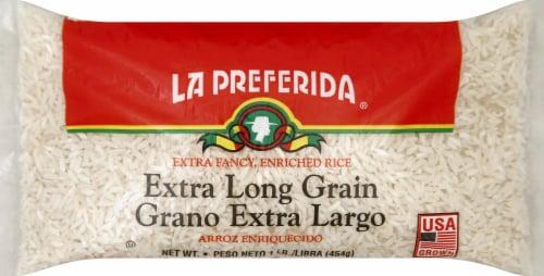 La Preferida Extra Long Grain Enriched Rice Perspective: front