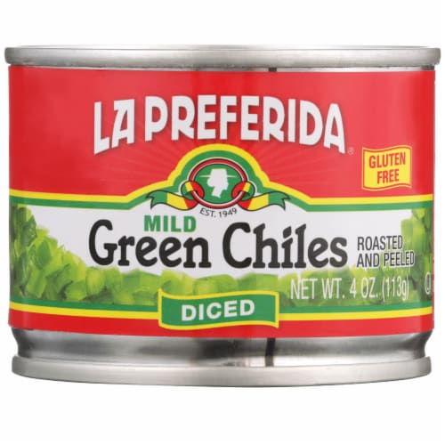 La Preferida Diced Mild Green Chiles Perspective: front