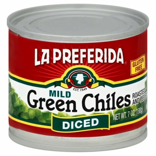 La Preferida Mild Diced Green Chiles Perspective: front