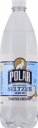 Polar Toasted Coconut Seltzer Perspective: front