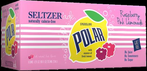 Polar Raspberry Lemonade Seltzer Perspective: front
