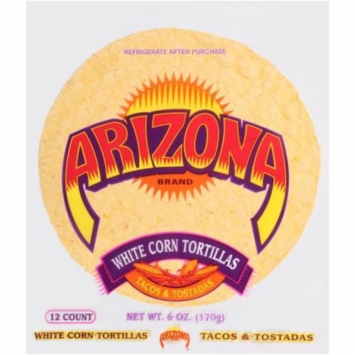 Arizona Gold White Corn Tortillas Perspective: front