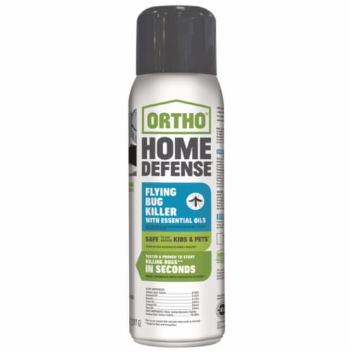 Ortho Home Defense 14 Oz. Aerosol Spray Flying Bug Killer with Essential Oils Perspective: front