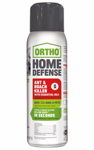 Ortho Home Defense 14 Oz. Aerosol Spray Ant & Roach Killer with Essential Oils Perspective: front