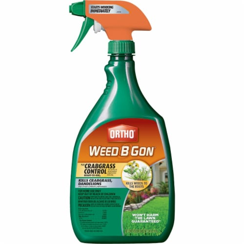 Scotts Ortho Roundup 687747 24 oz Weed-B-Gon Max Plus Crabgrass Control Perspective: front