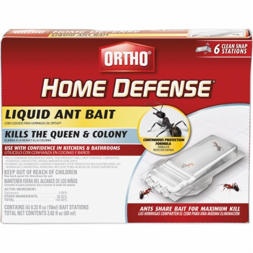 Scotts Ortho Roundup 217230 Home Defense Liquid Ant Bait - Pack of 6 Perspective: front
