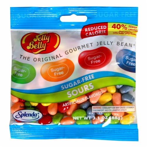 Jelly Belly Sugar Free Sours Jelly Beans Perspective: front