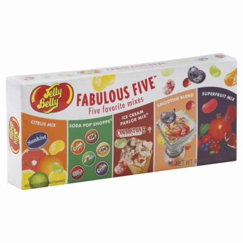 Jelly Belly Fabulous Five Jelly Beans Perspective: front