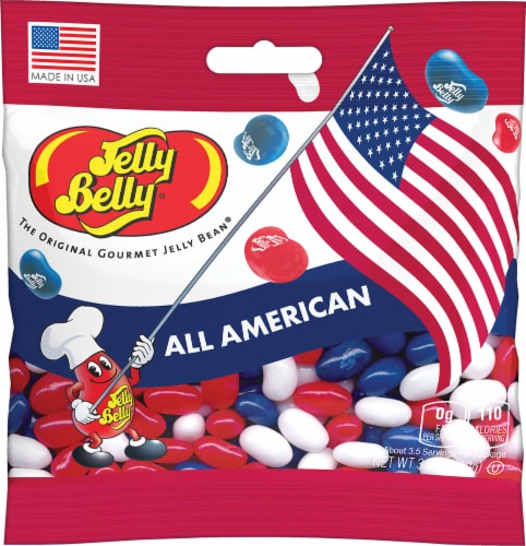 Jelly Belly All American Jelly Bean Candy Perspective: front