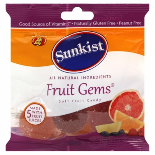 Jelly Belly Sunkist Fruit Gems Perspective: front