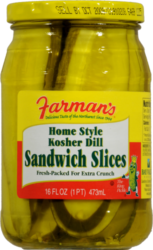 Farman's Kosher Dill Sandwich Slicers Perspective: front