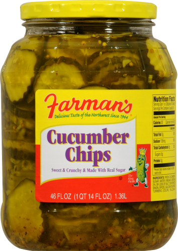 Farman's Cucumber Chips Perspective: front