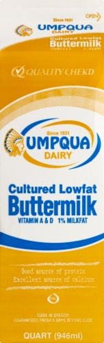 Umpqua Dairy Cultured Lowfat Buttermilk Perspective: front
