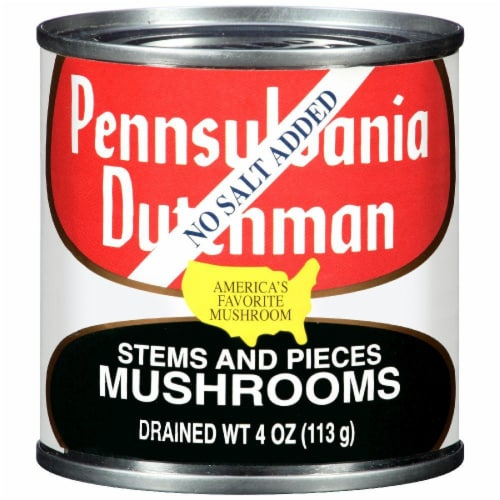 Pennsylvania Dutchman No Salt Added Mushroom Stems and Pieces Perspective: front
