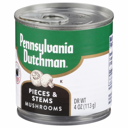 Pennsylvania Dutchman Mushroom Stems and Pieces Perspective: front