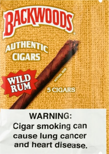 Backwoods Wild Rum Authentic Cigars Perspective: front