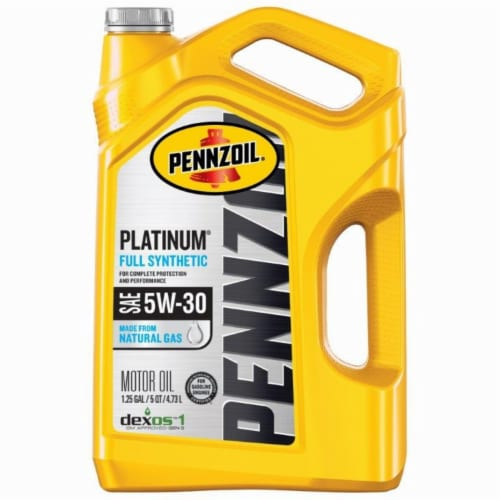 Pennzoil Platinum 5W-30 SAE Full Synthetic Motor Oil Perspective: front