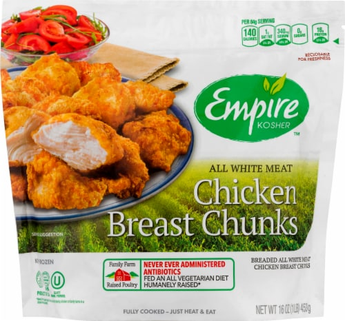 Empire Kosher Breaded Chicken Breast Chunks Perspective: front