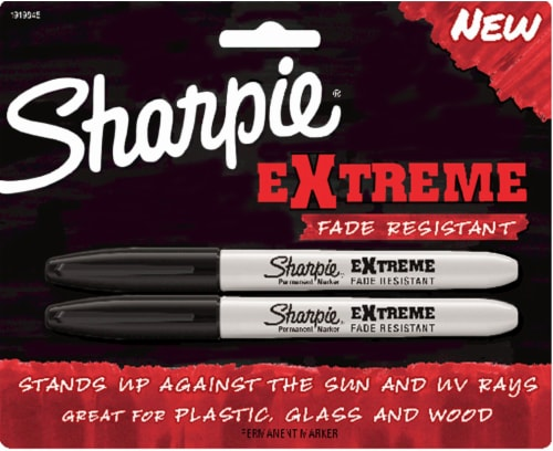 Sharpie Extreme Fade Resistant Permanent Markers - Black Perspective: front