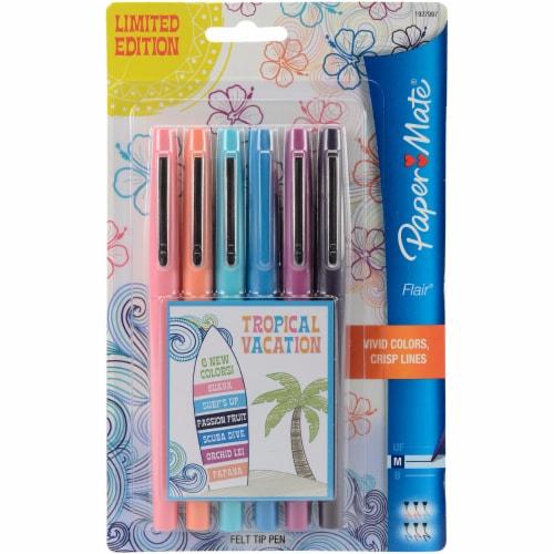 Paper Mate® Flair Medium Tropical Vacation Felt Tip Pens Perspective: front